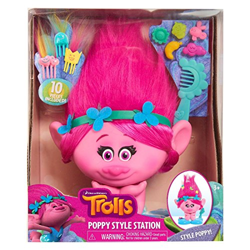 Trolls, Just Play, Poppy Styling - Princess Styling Barbie Head
