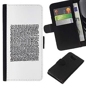 Stuss Case / Funda Carcasa PU de Cuero - Texto de lectura Cita blanca minimalista - Samsung ALPHA G850
