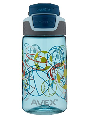 AVEX Kids Freeride Multi Sport Autoseal Water Bottle, Powder Blue, 16 oz