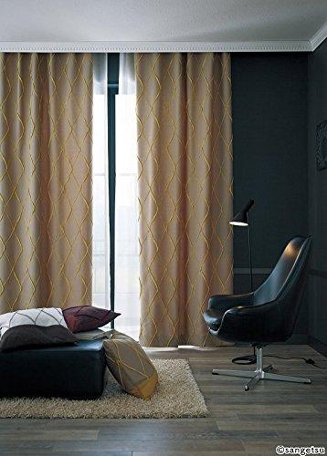 サンゲツ 凹凸で柄を表現したシンプルなジャカード織物 カーテン2倍ヒダ SC3019 幅:150cm ×丈:240cm (2枚組)オーダーカーテン   B07849PLGZ