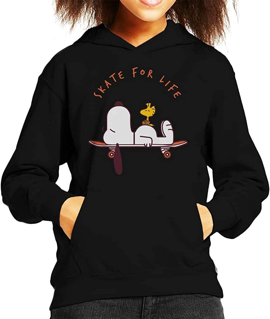 Cloud City 7 Skate for Life Snoopy and Woodstock Peanuts Kids Hooded Sweatshirt