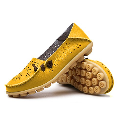 Flat Shoes Yellow Slippers Blivener Loafers Summer Womens Casual Hollow ICBwBXvq