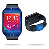 samsung galaxy gear 2 neo case - MightySkins Protective Vinyl Skin Decal Cover for Samsung Galaxy Gear 2 Neo Smart Watch wrap sticker skins Blue Retro