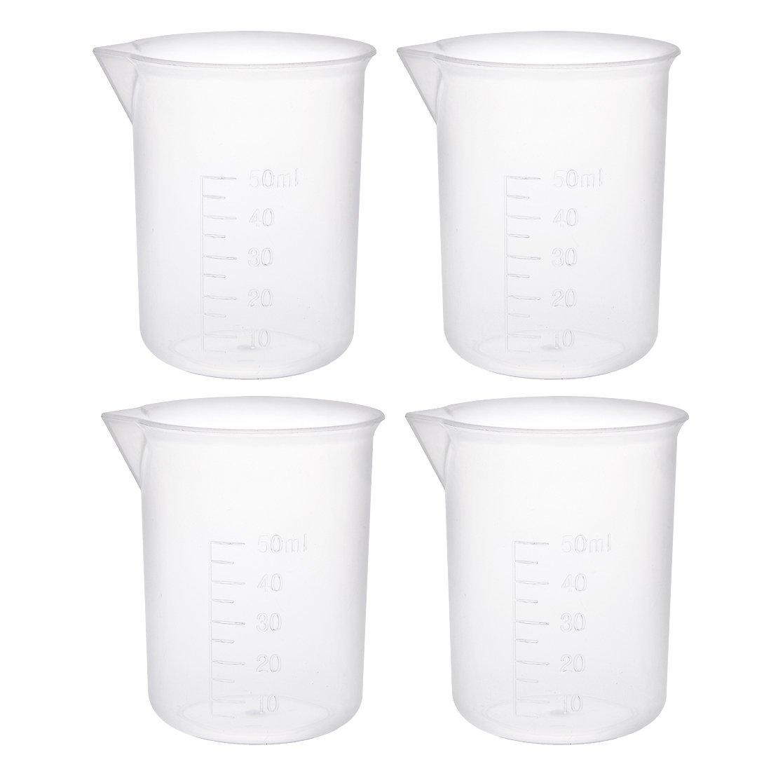 sourcingmap 6pcs Measuring Cup Labs PP Graduated Beakers 150ml a18031400ux0106