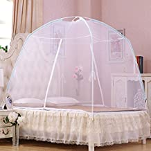 Folding Portable Pricess Mongolia Mosquito Net Mesh Insect Bed Canopy Curtain Elegant Dome Tent White