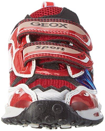 Geox J Shuttle B, Zapatillas para Niños Rojo (Red/royalc7213)