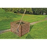 Gartenwelt Riegelsberger Holzkomposter 90x90xH70 cm Kiefer braun kesseldruckimprägniert mit Holz-Stecksystem