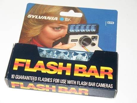 Sylvania Blue Flashbar Polaroid Camera