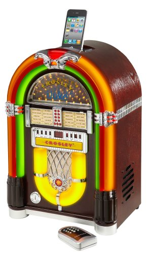 Ipod Jukebox - Crosley CR1702-CH iJuke Premier Jukebox with Universal iPod Dock and CD Player