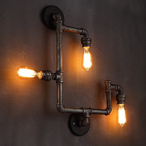 ONEPRE Vintage Industrial Steampunk Wall Light Fixtures, 3 Lights ...