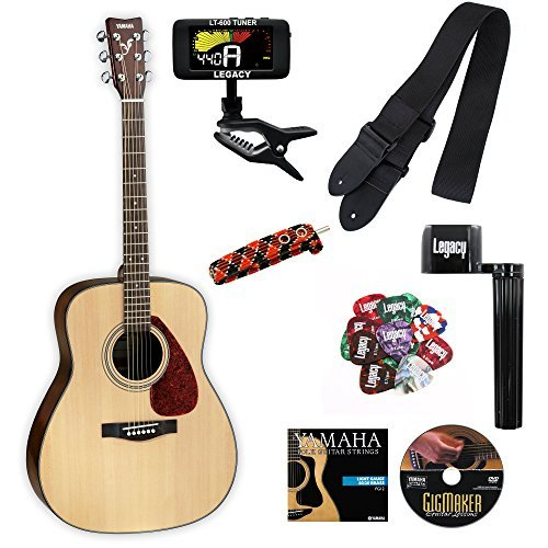 Yamaha F325D Dreadnought Folk Acoustic Student Guitar with Legacy Accessory Bundle [並行輸入品]   B07FDQ9GBN