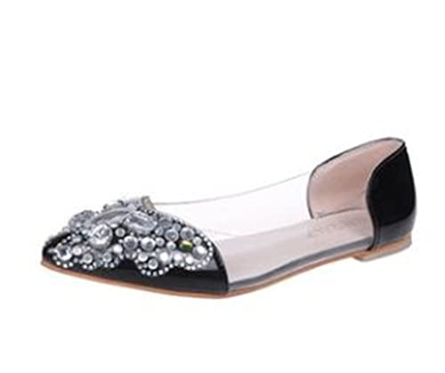 2461a0fdf8 Women s Wide Width Ballet Flat - Comfortable Slip On Closed Toe Casual Shoes (Black-