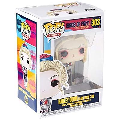 Funko Pop! Heroes: Birds of Prey - Harley Quinn (Black Mask Club): Toys & Games