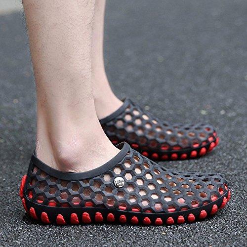 estate Il nuovo gioventù sandali tendenza Scarpe da foro Uomini Scarpe da spiaggia selvaggio personalità sandali ,nero,US=8.5?UK=8,EU=42?CN=43