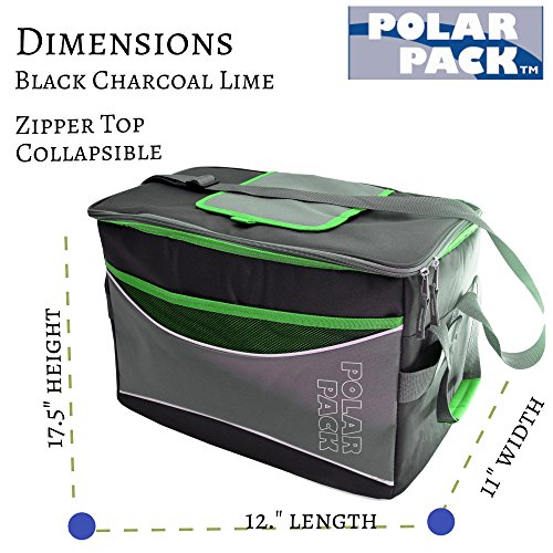 POLAR PACK Extra Large 48 Can Collapsible Cooler Bag Soft Portable Insulated ...