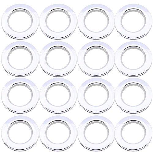 LANDGOO Curtain Grommets 1-9/16 Inch Inner Diameter Eyelet Ring Aqua Grommet Curtains 16Pair Polish ()