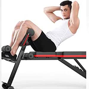 HATHOR-23 Adjustable Weight Bench, Foldable, with Auxiliary Motion Pull Rope, Gym Bench for Full Body for Full Body Workout, for Home Training Gym, 800 Lbs Load