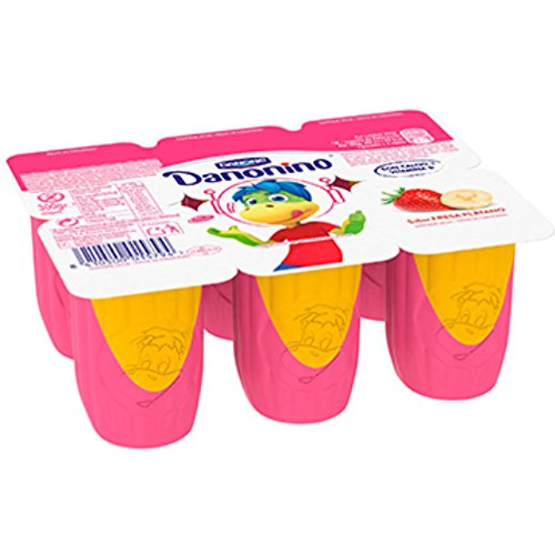 Danonino Fresa, Plátano - Paquete de 6 x 50 gr - Total: 300 gr: Amazon.es: Alimentación y bebidas