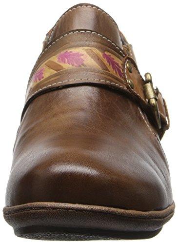 Fjädersteget Kvinna Lynette Loafers Taupe Läder
