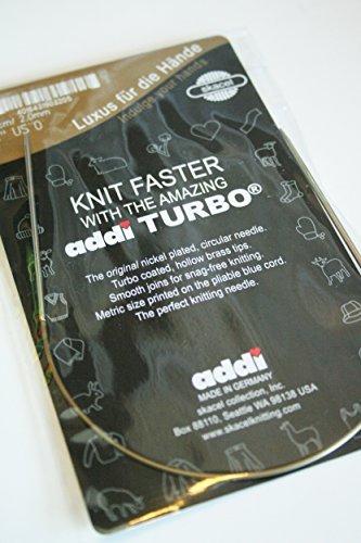 Skacel Addi Turbo Circular Needles - addi Knitting Needle Turbo Circular Skacel Exclusive Blue Cord 12 inch (30cm) Size US 08 (5.0mm)