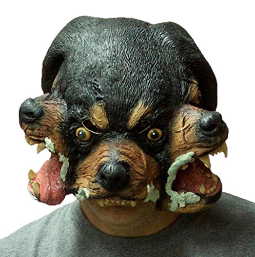 [Forum Novelties Cerberus Three Headed Dog Latex Mask] (Costume Hades Greek God)