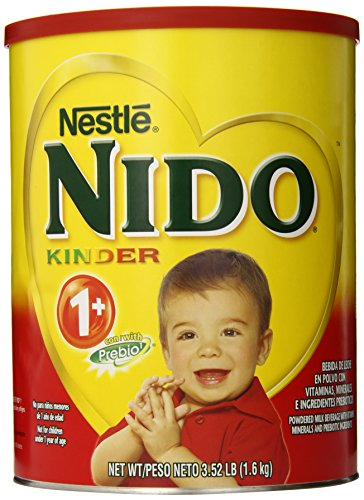 Nestle NIDO Kinder 1+ Powdered Milk Beverage, 3.52 lb. (Smile Baby System)