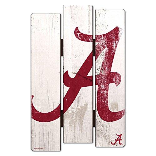 WinCraft NCAA University of Alabama Wood Fence Sign