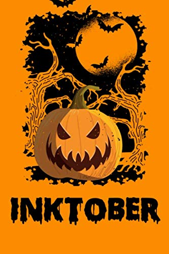 INKTOBER: Scary Pumpkin Sketchbook | 50 pages | 6