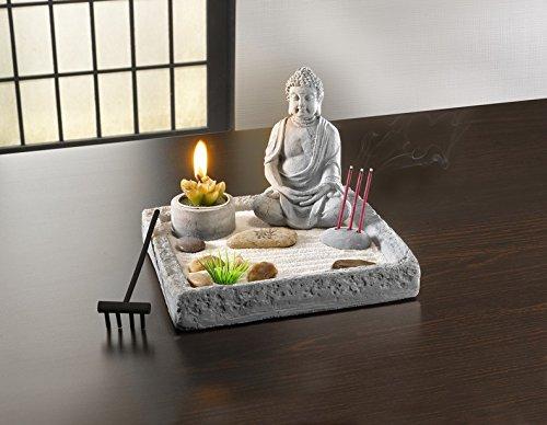 Amazon De Deko Set Zen Garten Buddha Kerze Rechen Relax