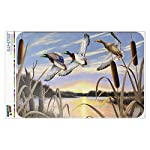 Graphics and More Mallard Ducks Flying Over Pond Lake Painting Home Business Office Sign