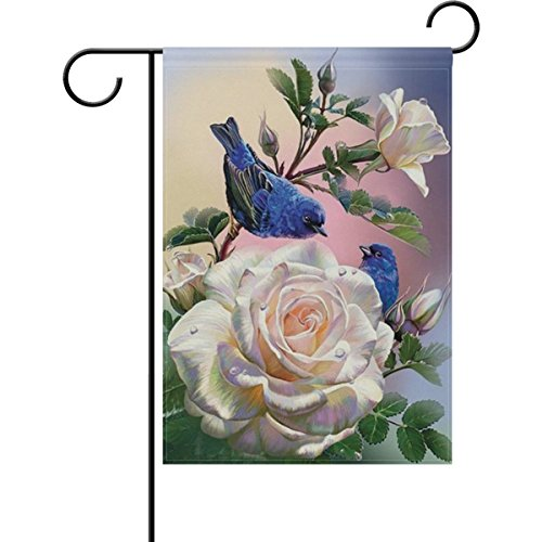 ALAZA Spring Summer Bird Garden Flag, Double-sided Yard Flag