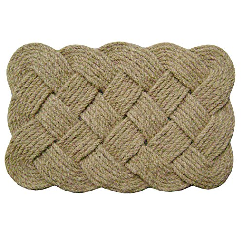 "Nedia 12102  Lovers Knot 36"" x 22"" Mat, Natural"
