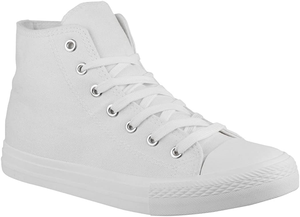 Unisexe High Top Sneakers Chaussures de Sport Tissu Chaussures de Loisirs