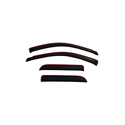 Auto Ventshade 194623 In-Channel Ventvisor Side Window Deflector, 4-Piece Set for 2002-2008 Dodge Ram 1500, 2003-2009 Ram 2500 & 3500 with Quad Cab: Automotive