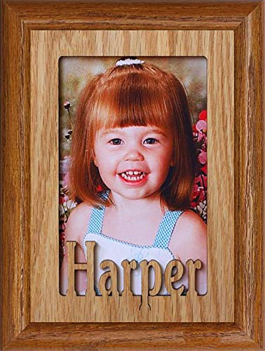 (Personalized Photo Name Frame ~ Custom Made with Your Child's First Name & Frame Color Choice ~ Holds a 4x6 or/Cropped 5x7 Picture!)