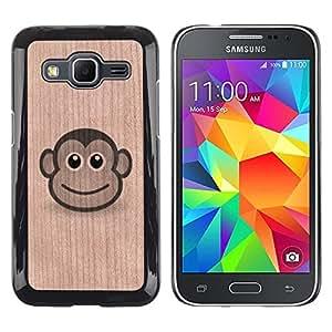 - Monkey Cartoon Cute Animal Face - - Funda Delgada Cubierta Case Cover de Madera FOR Samsung Galaxy G360 G3608 G3606 BullDog Case