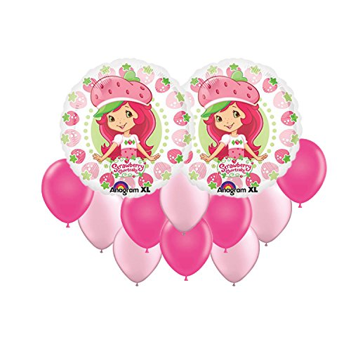 Strawberry Shortcake Party Invitations (Strawberry Shortcake Berry Balloon Bouquet 12pc)