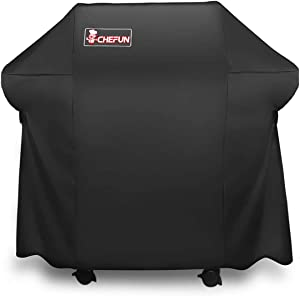 CHEFUN 7106 Grill Cover,52-Inch Durable Waterproof Cover for Weber Spirit 200 and 300 Series & Genesis Silver A/B Gas Grill (Dust & Water Resistant, Weather Resistant, Rip Resistant)