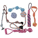 Dog Toys for Large Dogs,Dog Toy Dog chew Toy Set for Medium Dogs 100% Natural Cotton Dog Rope Toy for Teething Chewing Playing, Resistant to Pull and Drag (Set of 8)
