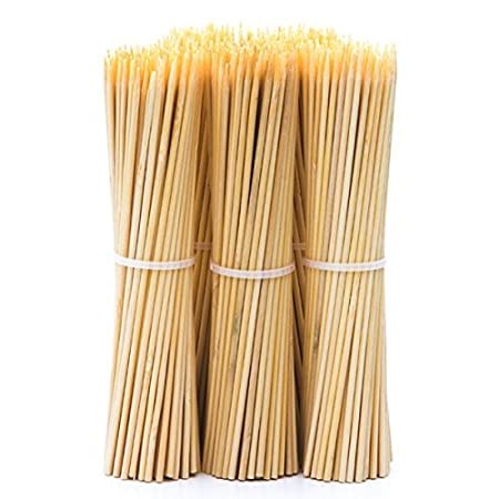vinayaka mart Wood Bamboo Skewers Stick, 8 Inch - 100+50 Sticks