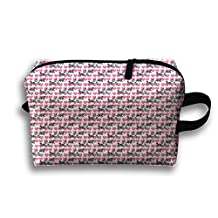 Newfy And Cart Pet Dog Cosmetic Bags Organizer Portable Pouch Storage Toiletry Bag