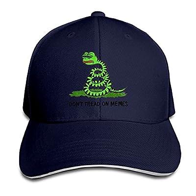 Small Sun Men Sandwich Cool Trucker Hat Pepe Frog Don't Tread On Memes