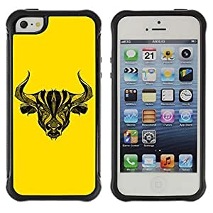 Hybrid Anti-Shock Defend Case For HTC One M8 Cover Cool Tattoo Bull
