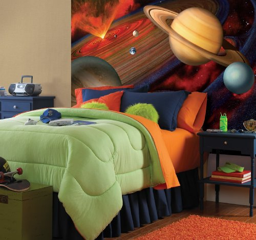 091212471351 - Brewster National Geographic Kids NG94613 Planets Wall Mural, 72-Inch x 48-Inch carousel main 1