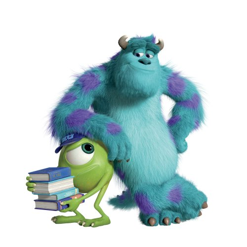 Roommates Rmk2244Slm Monsters University Sully And Mikey Peel And Stick Giant Wall Decals (Sully Monsters)