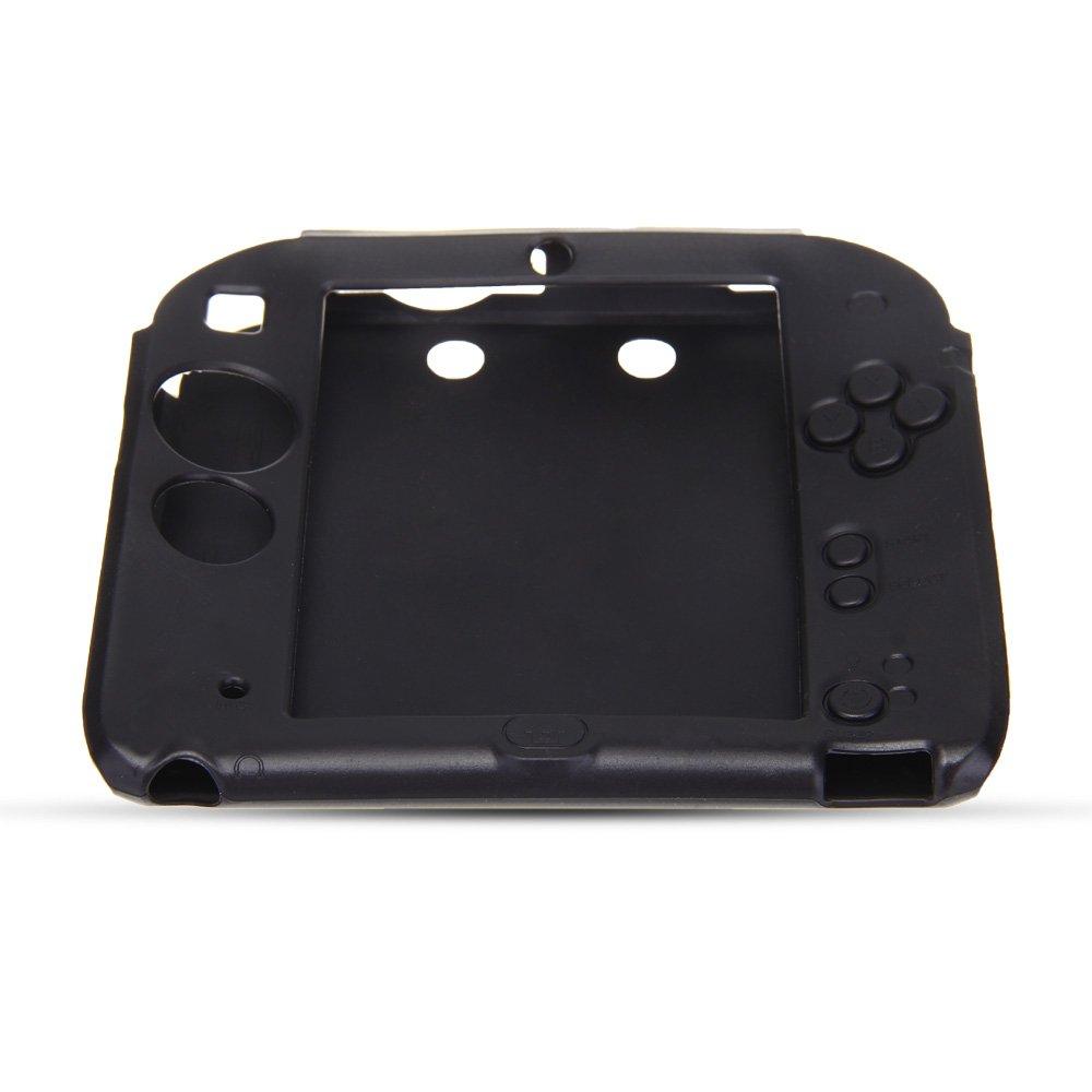Funda Carcasa Silicona Negro para Nintendo 2DS Consola de ...
