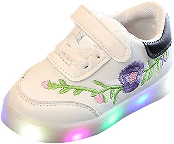 DAY8 Basket Fille Montante Scratch Cuir PU LED Lumineuse