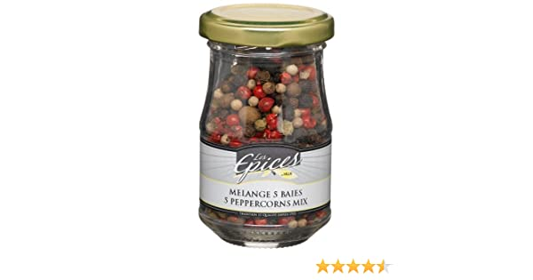 Amazon.com : Vilux Les Epices Melange 5 Baies (Five Peppercorn Mix), 1.4-Ounce Glass Jars (Pack of 4) : Grocery & Gourmet Food
