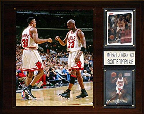 NBA Chicago Bulls Michael Jordan-Scottie Pippen Player Plaque, 12 x 15-Inch ()