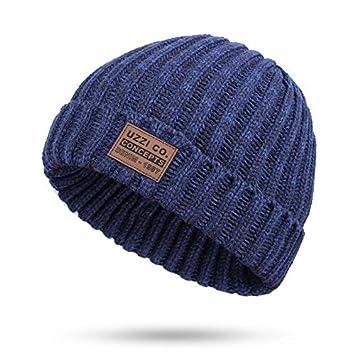 HAOLIEQUAN Solid Design Skullies Bonnet Cappelli Invernali per Le Donne  Cappello Caldo da Donna Cappello da c012b95cd845